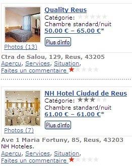 hôtels REU